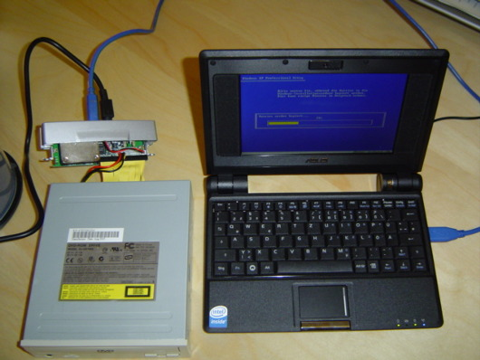 Eee PC Windows XP installation