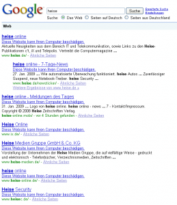 google-fehler