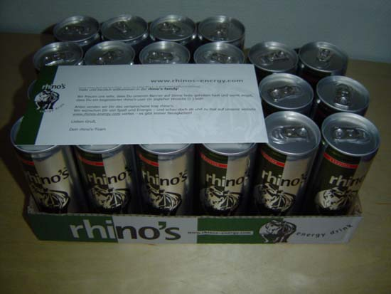 Rhino's Energy Drink Tray
